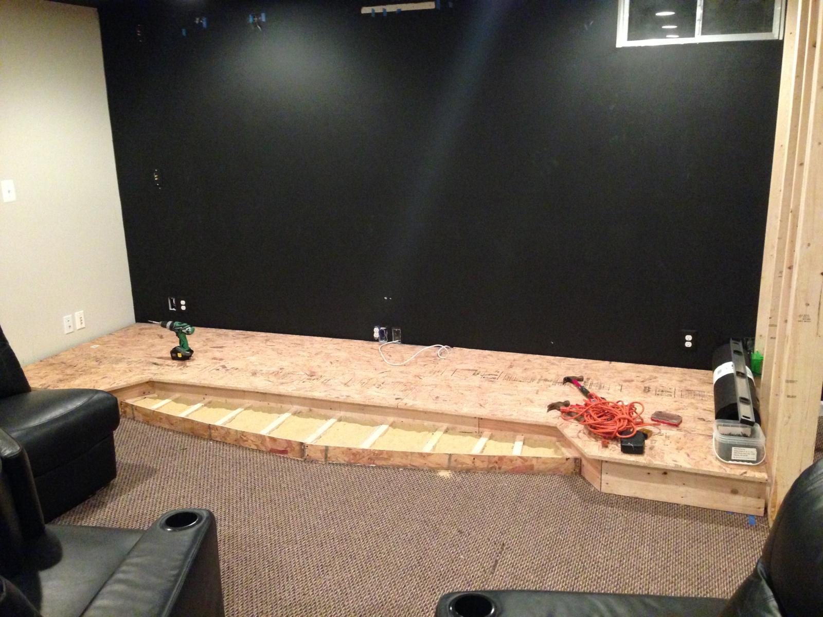 Jimmyk 39 s home theater build 2 0 a diy erskine design avs forum home theater discussions - Home theater screen wall design ...